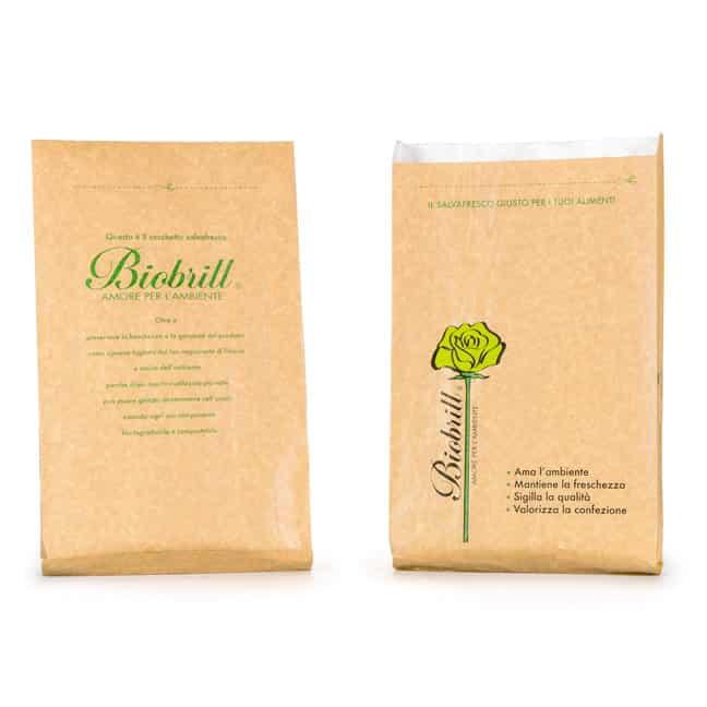 Sacchetto biodegradabile di carta per alimenti