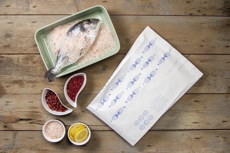 Packaging per il pesce crudo