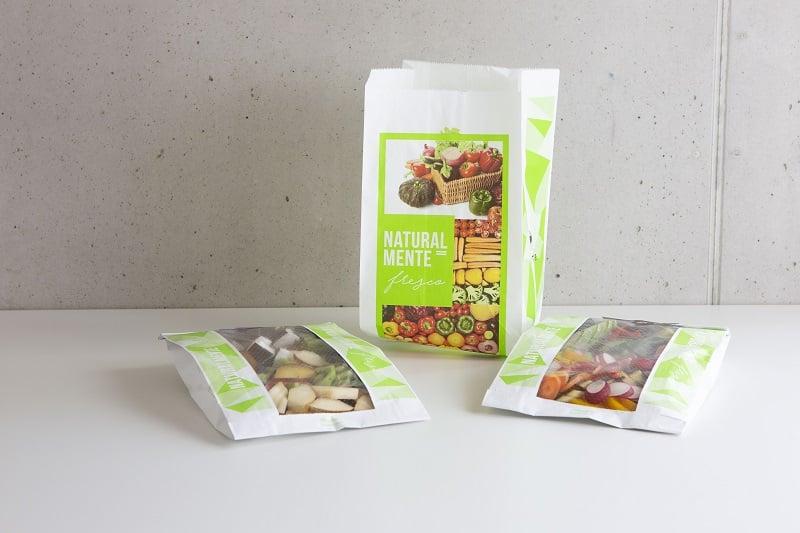 Packaging in carta per l'ortofrutta
