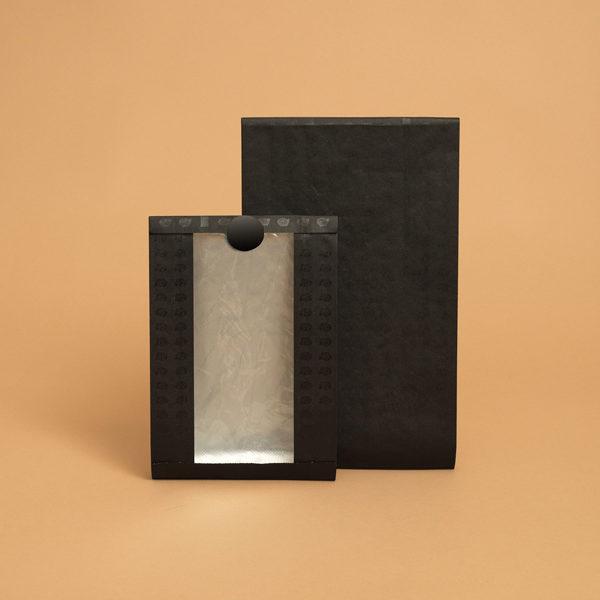 Sacchetti carta salvafreschezza per alimenti con finestra