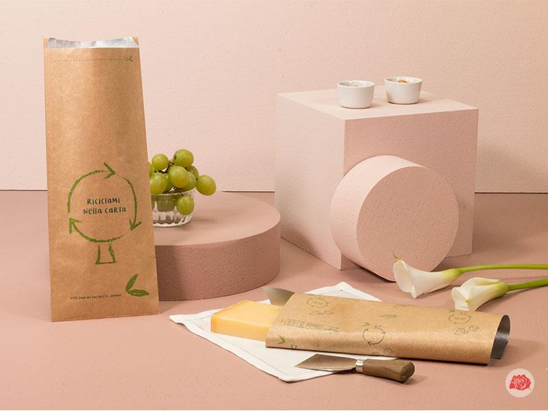 Incarto e sacchetto salvafreschezza per conservare il formaggio